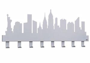 ARTI E MESTIERI NEW YORK APPENDI ABITI DA MURO MODERNO GRIGIO ALLUMINIO