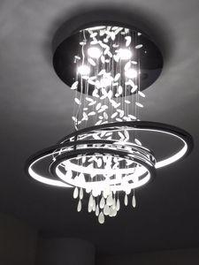 LAMPADARIO A LED PER SALOTTO DESIGN MODERNO 68W 3000K DOPPIA ILLUMINAZIONE