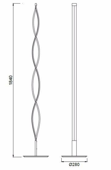 PIANTANA LED 28W 3000K DIMMERABILE DESIGN MODERNA