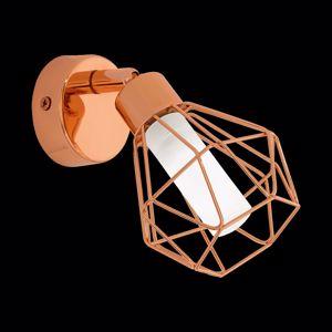 APPLIQUE LED ORIENTABILE 2.5W LAMPADA DA PARETE METALLO RAME