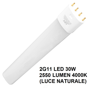 LIFE LAMPADA TUBO LED 2G11 30W 2550 LUMEN 4000K LUCE NATURALE COD. 39.940430N