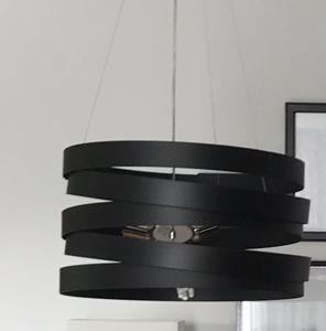 MARCHETTI BAND LAMPADARIO MODERNO METALLO NERO