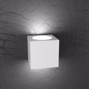 TOP LIGHT PLATE CUBO BIANCO APPLIQUE LED UP&DOWN ELEVATA LUMINOSITA