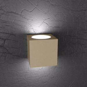APPLIQUE CUBO LED METALLO TORTORA PER INTERNI TOP LIGHT PLATE