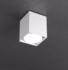FARETTO LED CUBO METALLO BIANCO GX53 DA SOFFITTO TOP LIGHT PLATE