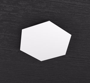 TOP LIGHT HEXAGON PLACCA METALLICA DECORATIVA BIANCA