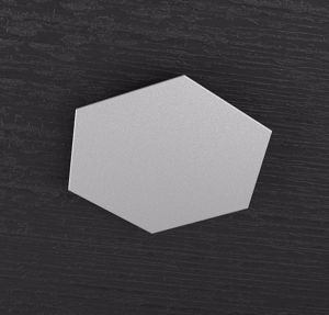 TOP LIGHT HEXAGON PLACCA METALLO DECORATIVA METALLO GRIGIO