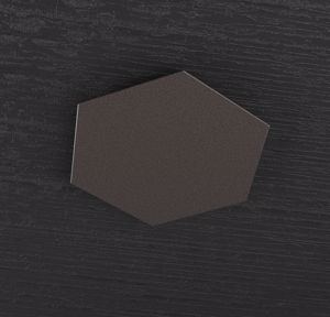 TOP LIGHT HEXAGON PIASTRA METALLICA DECORATIVA MARRONE