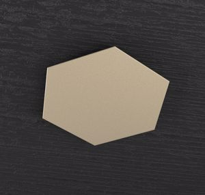 TOPLIGHT HEXAGON PLACCA METALLO DECORATIVA SABBIA