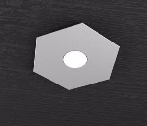 TOP LIGHT HEXAGON PLAFONIERA LED GRIGIO DESIGN MODERNO