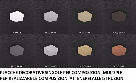 TOPLIGHT HEXAGON PLAFONIERA LED 3 LUCI MODERNA DECORO FOGLIA ARGENTO