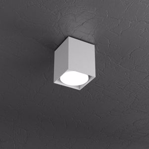 FARETTO LED GX53 CUBO DA SOFFITTO METALLO GRIGIO TOP LIGHT