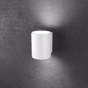 TOPLIGHT SHAPE APPLIQUE METALLO BIANCO 2 LAMPADINE LED MODERNO