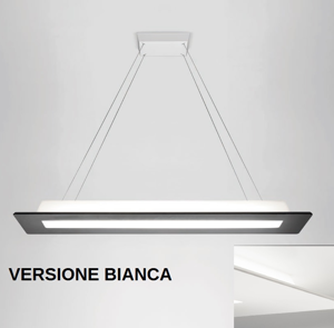MA&DE SQUARE LAMPADARIO BIANCO LED 39W 3000K