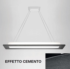 LAMPADARIO LED 39W 3000K EFFETTO CEMENTO MA&DE SQUARE LINEA LIGHT