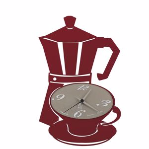 ARTI E MESTIERI MOKKAP OROLOGIO A PARETE DA CUCINA CAFFETTIERA ROSSO PROMOZIONE