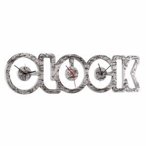 GRANDE OROLOGIO DA PARETE MODERNO PINTDECOR SILVER CLOCK FOGLIA ARGENTO PER UFFICIO