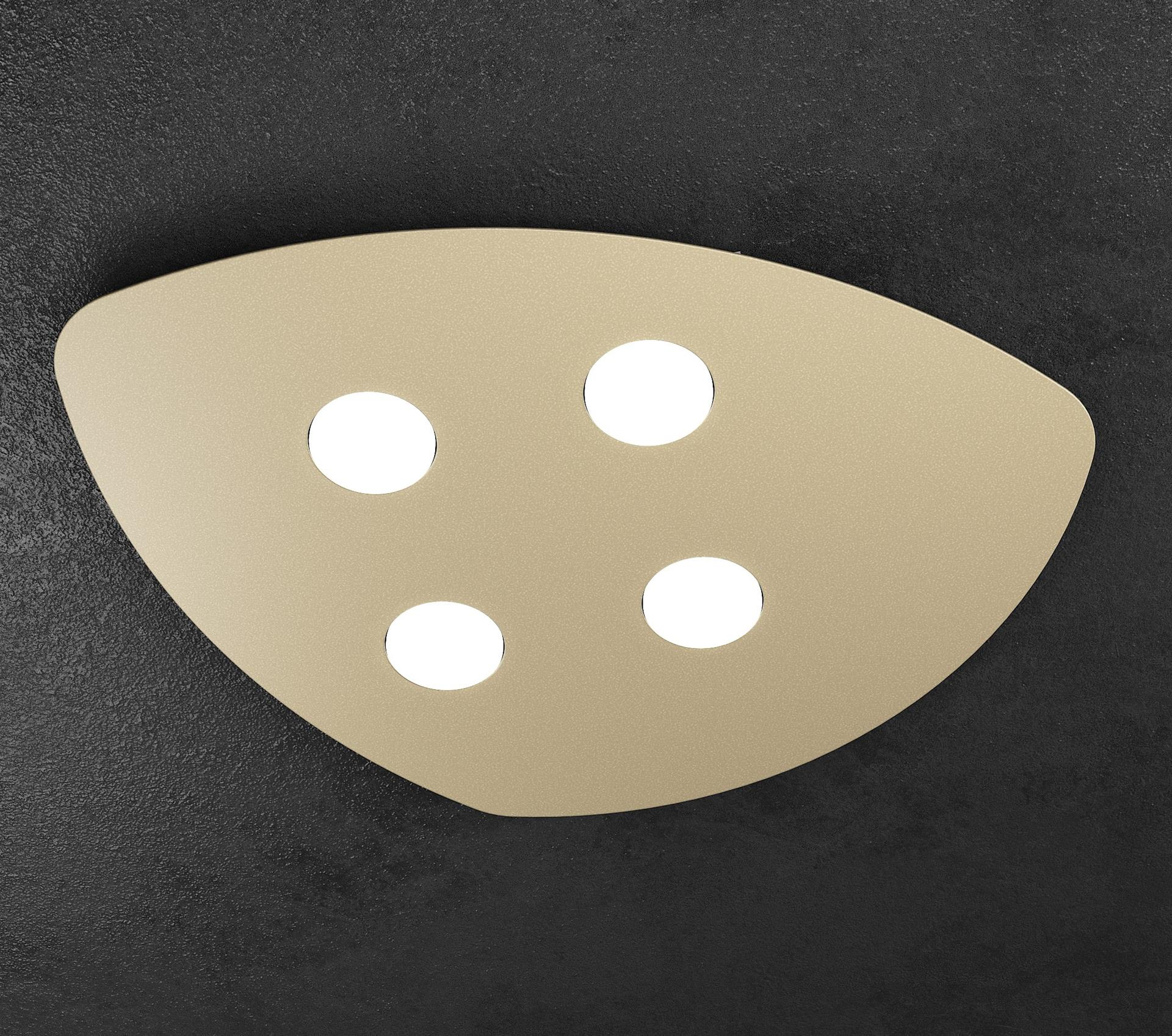 SHAPE TOPLIGHT PLAFONIERA DA SOGGIORNO 4 LED INTERCAMBIABILI METALLO SABBIA