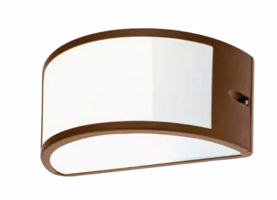 APPLIQUE DA ESTERNO MODERNO CURVO MARRONE IP54 E27 LED