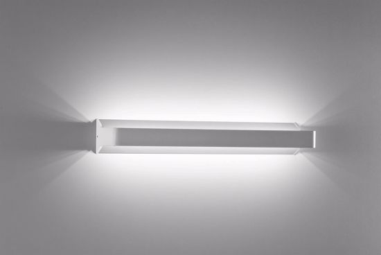 APPLIQUE LED MENSOLA 53CM 18W 3000K DESIGN METALLO BIANCO