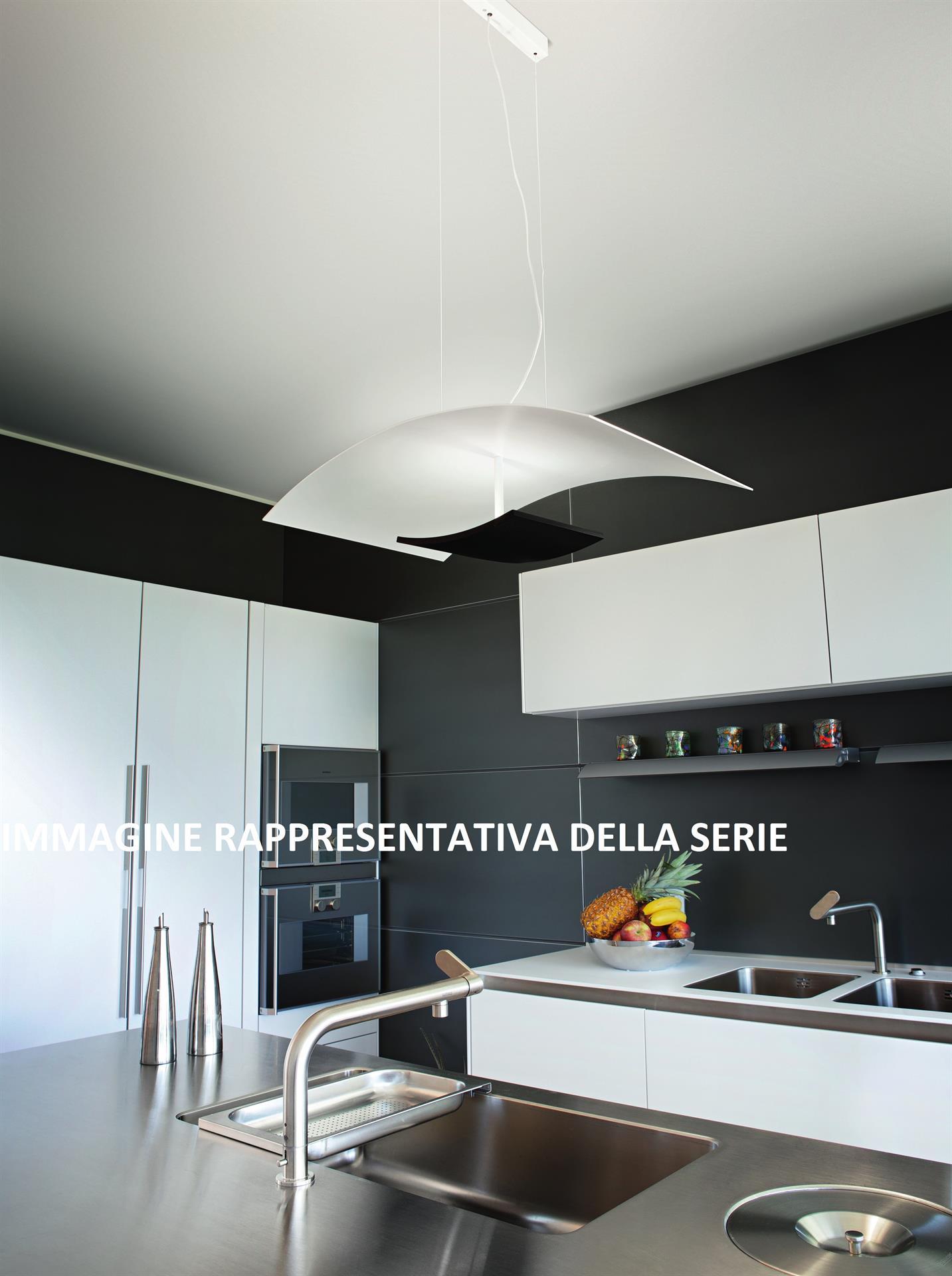 Illuminazione In Cucina Moderna.Lampadario 65cm Per Cucina Moderna Bianco Nero Led Doppia