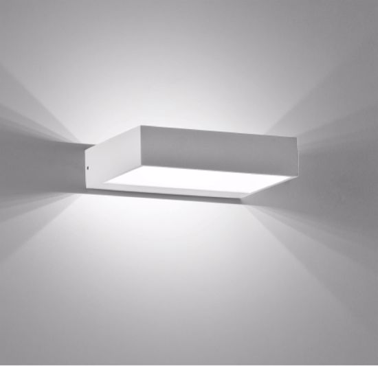 ISYLUCE APPLIQUE A LED 6W 3000K DESIGN MODERNO BIANCO DA INTERNO