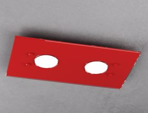 PLAFONIERA DA SOFFITTO LED VETRO ROSSA LUCIDO TOP LIGHT PATH