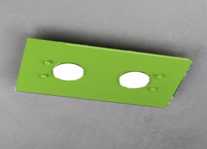 LAMPADA DA SOFFITTO LED MODERNA VERDE LUCIDO PER INGRESSO TOP LIGHT PATH