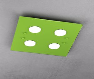 TOP LIGHT PATH LAMPADA PLAFONIERA LED SOFFITTO PER CAMERETTA VETRO VERDE