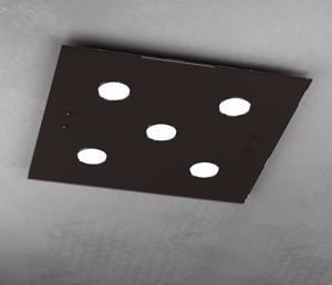 PLAFONIERA LED PER UFFICIO VETRO MARRONE QUADRATA TOPLIGHT PATH