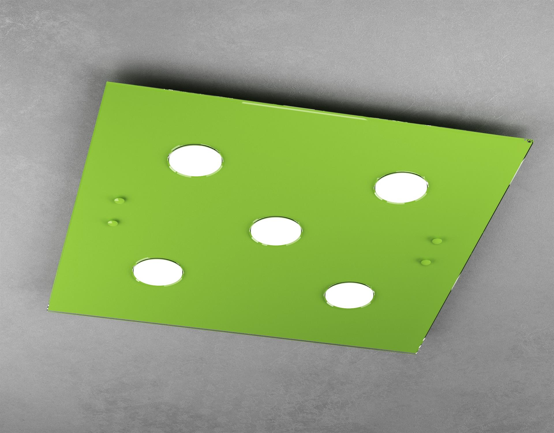 Plafoniera Led Cameretta.Plafoniera Led In Vetro Lucido Verde Da Cameretta Moderna Top Light Path