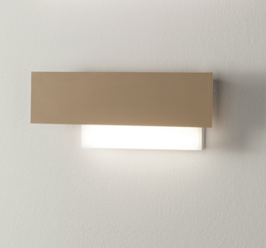 GEA LUCE DOHA APPLIQUE LED PER INTERNI 15W 3000K DESIGN MODERNA BIANCO TORTORA