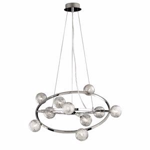ORBITAL SP10 IDEAL LUX LAMPADARIO DESIGN MODERNO ANELLI ROTANTI SFERE DI VETRO