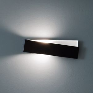 APPLIQUE MODERNE METALLO NERO PER INTERNI DESIGN PARTICOLARE ZIG ZAG LINEA LIGHT