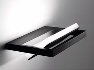 APPLIQUE NERO LED 15W 3000K PARABOLA GIREVOLE DESIGN MODERNO PER INTERNI