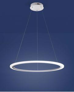 AFFRALUX ACRILED  LAMPADARIO MODERNO LED 60CM ANELLO LED 23W 3000K PER UFFICIO