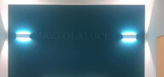 ISYLUCE APPLIQUE LED 18W 3000K RETTANGOLARE MODERNA METALLO BIANCO