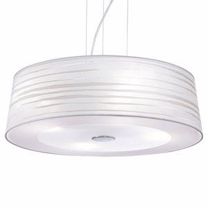 LAMPADARIO BIANCO 60CM PVC E STOFFA PER CAMERA DA LETTO