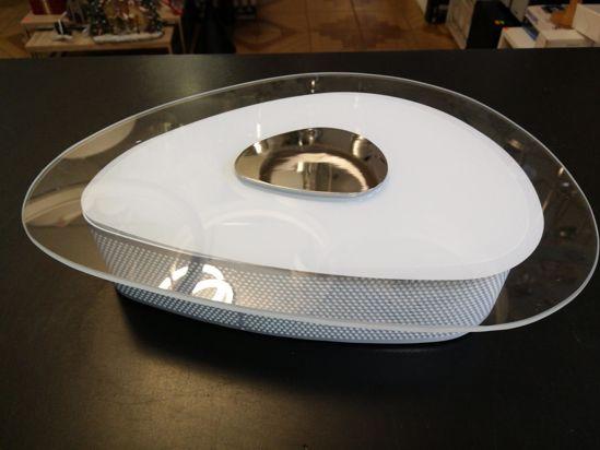 Plafoniera Tessuto : Antea luce glitter plafoniera moderna Ø55 bianca in tessuto forma