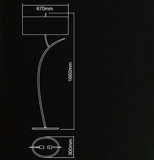 PIANTANA LAMPADA DA TERRA DESIGN MODERNA PER SOGGIORNO