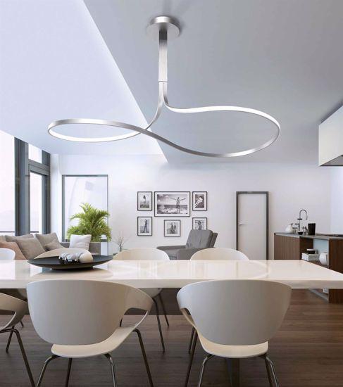 GRANDE LAMPADARIO A LED DESIGN MODERNO 50W 3000K MANTRA NUR SILVER XL
