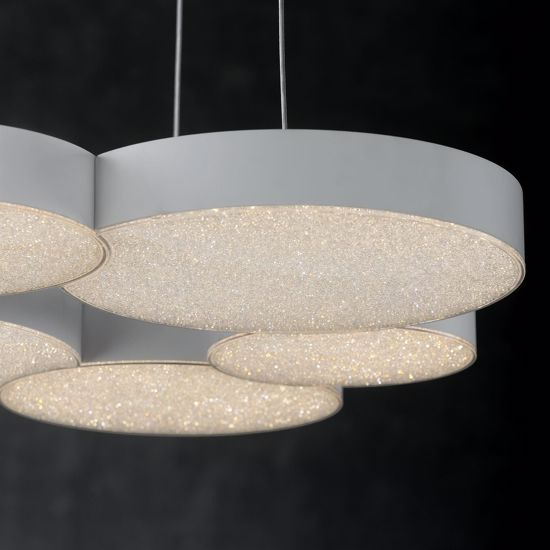 LAMPADARIO A SOSPENSIONE LED 54W 3000K DIMMERABILE DESIGN MODERNO PER SOGGIORNO
