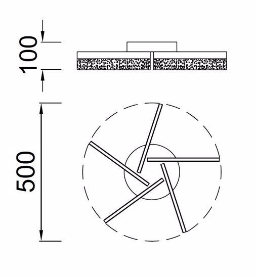 PLAFONIERA LED 30W 4000K DESIGN MODERNA PER SOGGIORNO