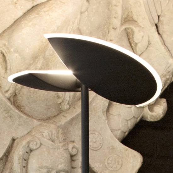PIANTANA ORIENTABILE LED DIMMERABILE 24W 3000K NERO MODERNA