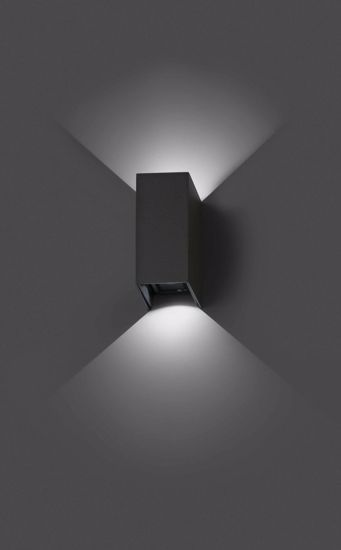 APPLIQUE DA ESTERNO MODERNO LED 6W 3000K IP54 FASCIO LUCE REGOLABILE