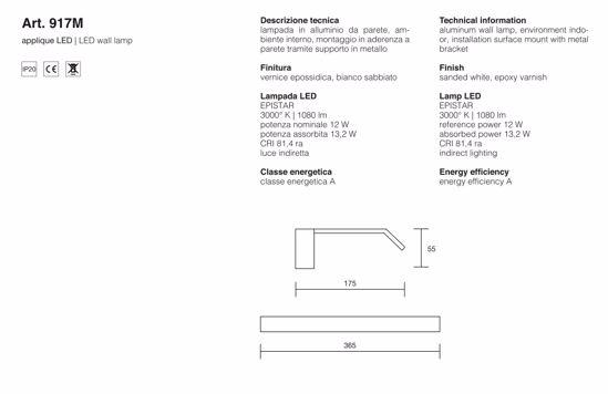 ISYLUCE APPLIQUE DESIGN MODERNO PER SPECCHIO DA BAGNO 12W 3000K BIANCO IP20 36,5CM