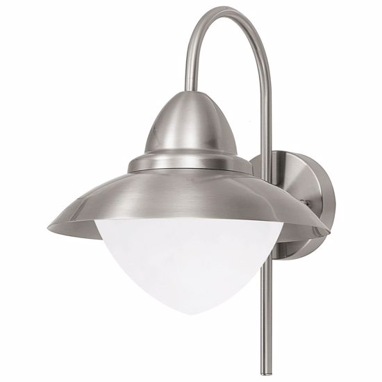 APPLIQUE PER ESTERNO MODERNO LAMPIONE IP44 NICHEL SATINATO