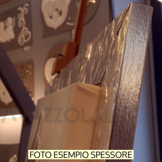 QUADRO FLOREALE MODERNO 82X52 STAMPA SU TELA CORNICE LEGNO FOGLIA ORO