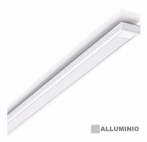 ACCESSORI PROFILO STRIP LED A VISTA ALLUMINIO PER STRISCIA LED CON KIT