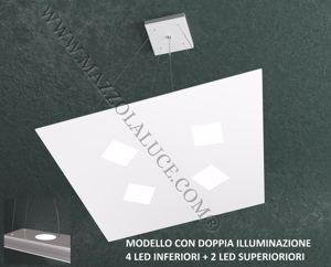 TOPLIGHT NOTE LAMPADARIO MODERNO SOGGIORNO LED BIANCO 4+2 LUCE SOPRA E SOTTO